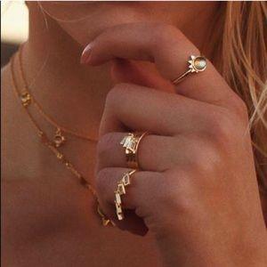 Brand New $85 Lili Claspe Baguette Shaker Ring